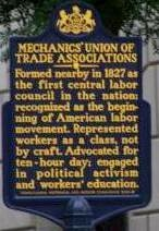 Mechanics Union of Trade Associations Historical Marker